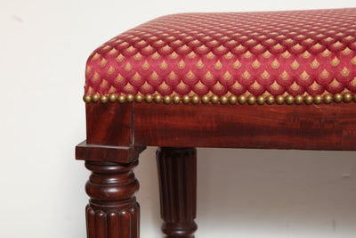 Regency Mahogany Bench