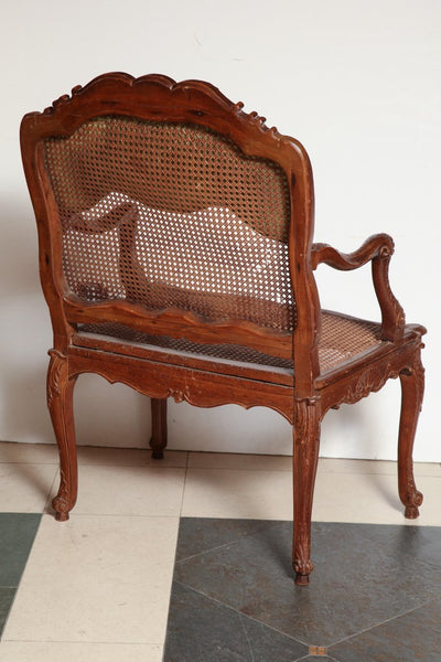 French Regence Carved Fauteuil