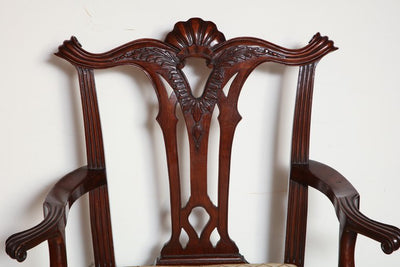 American Shell Carved Armchair