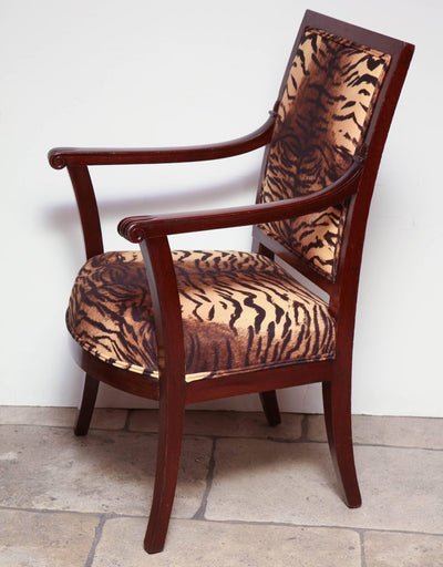 French Directoire Mahogany Fauteuil's