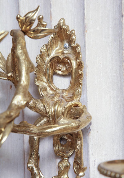 Pair of French Regence Bronze Wall Sconces