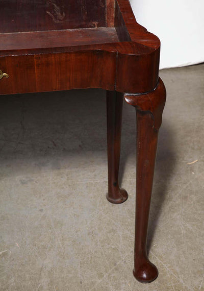 Queen Anne Mahogany Triple Top Card Table