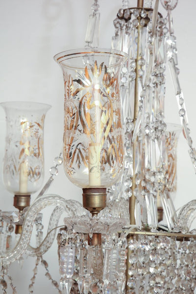 Late Regency Crystal Chandelier