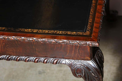 George II mahogany Ball and Claw Foot Card Table