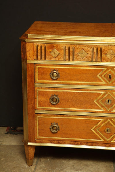 Russian Brass Inlaid Commode