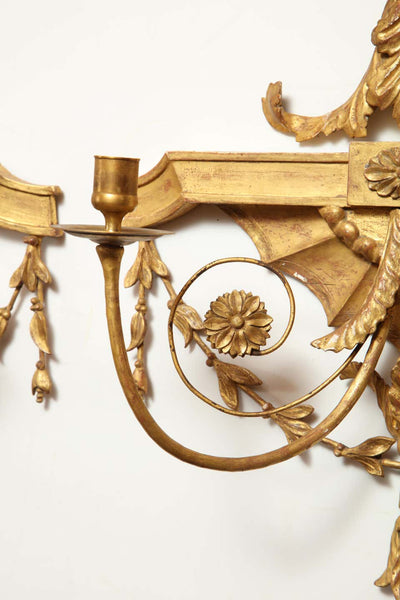 Pair of Adam Carved Gilt Appliques