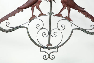 French Provincial Wrought Iron Chandelier