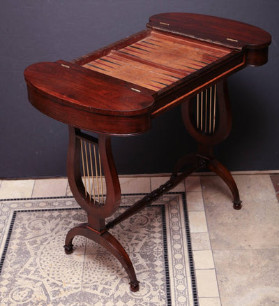 English Regency Mahogany Games Table