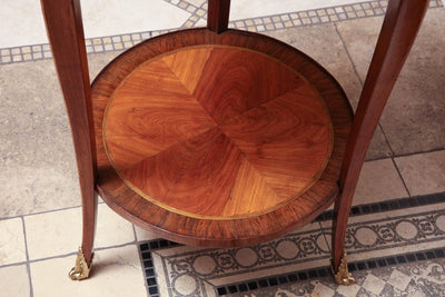 Pair of French Marquetry Side Table