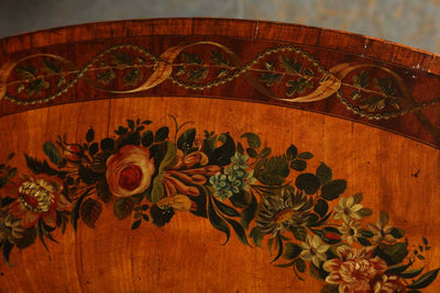 George III Satinwood Painted Pembroke Table