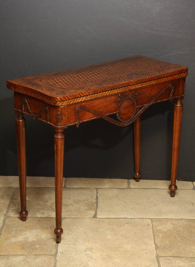 Louis XVI Carved Walnut Game Table