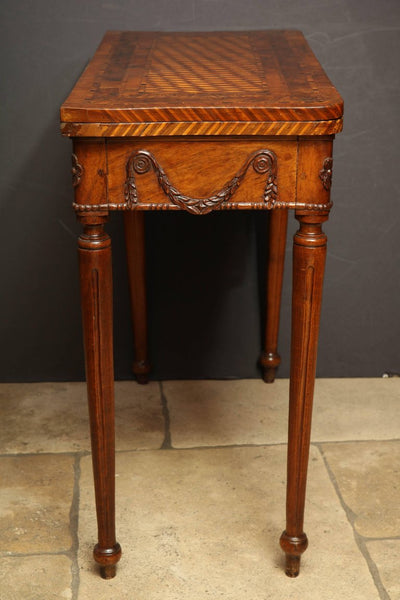 Rare Louis XVI Carved Walnut Game Table