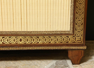 Pair of Regency Brass Inlaid Rosewood Cabinets