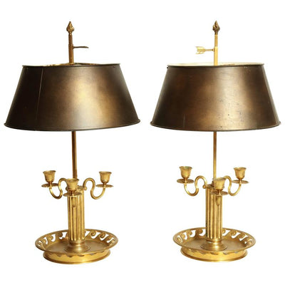 Pair of Louis XVI Bouillotte Lamps
