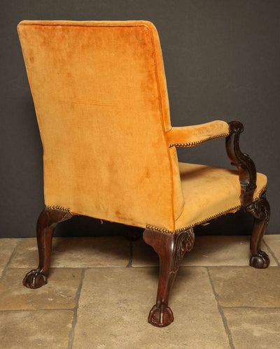 Pair of George III Mahogany Gainsborough Chairs