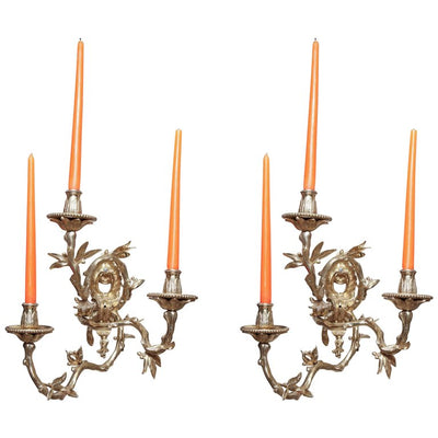 French Regence Bronze Wall Sconces