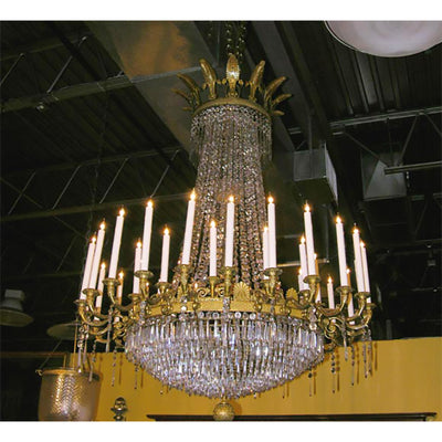Louis XVI Crystal and Bronze Chandelier