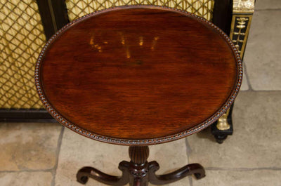 George III Mahogany Dish-Top Side Table