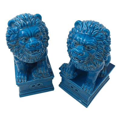 Pair of Chinese Porcelain Lions