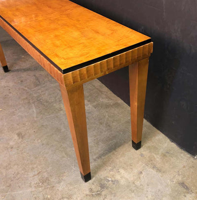 Art Deco Satinwood Console Table