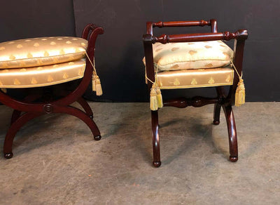 Pair of French Empire Stools