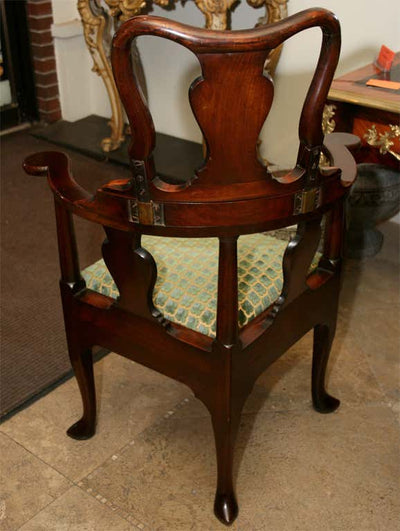 Fine and Rare Queen Ann Corner Barber Chair