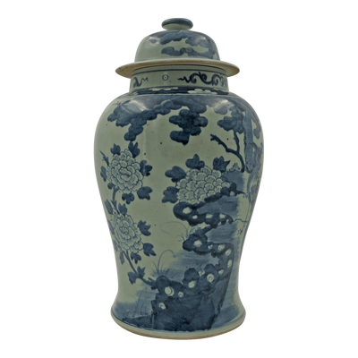 Large Chinese Pheasant Temple Jar