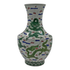Chinese Green Dragon Hu-Shaped Vase