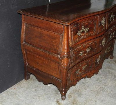 French Walnut Louis XV Provincial Commode