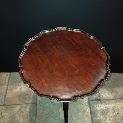 George II Mahogany Scroll Foot Pie Crust Table