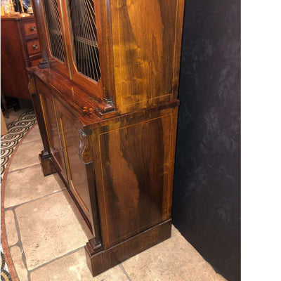 Regency Rosewood Grilldoor Bookcase
