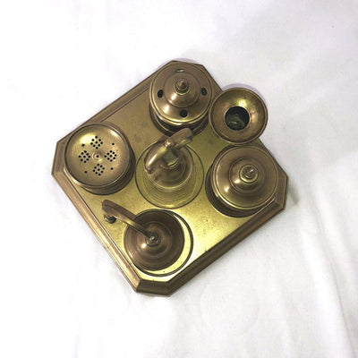 Georgian Brass Inkwell