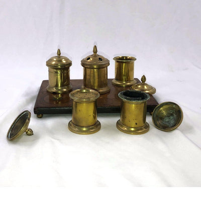 English Desk Set Inkwell