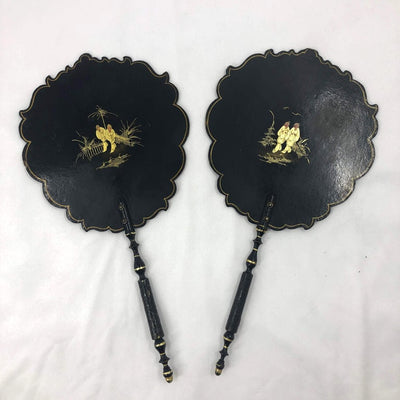 Pair of English Handheld Fans