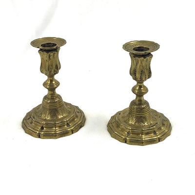 Pair of Early French Candlesticks