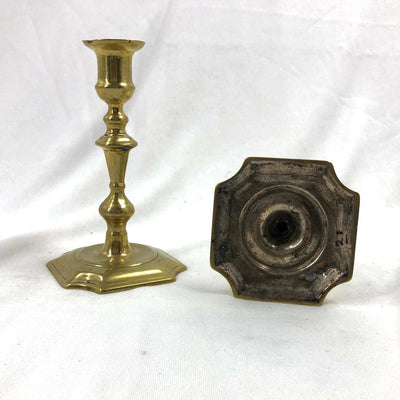 Rare Queen Anne Brass Candlesticks