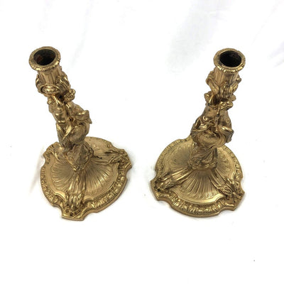 Louis XV Bronze Candlesticks