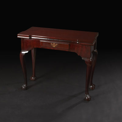 "George II ""Chippendale"" Mahogany Ball and Claw Foot Card Table"