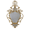 George III Style Gilt Wood Cartouche Mirror