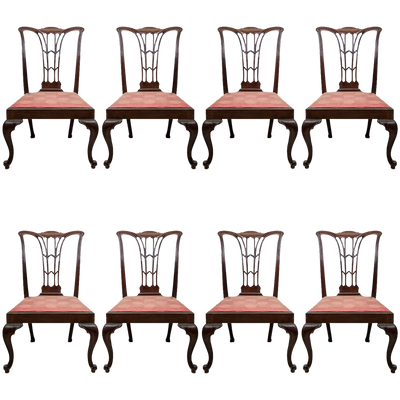 Set of 8 Chippendale Dining Chairs