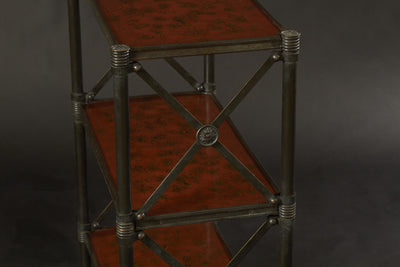 Pair of Regency Style Bronze Three Tier Etageres