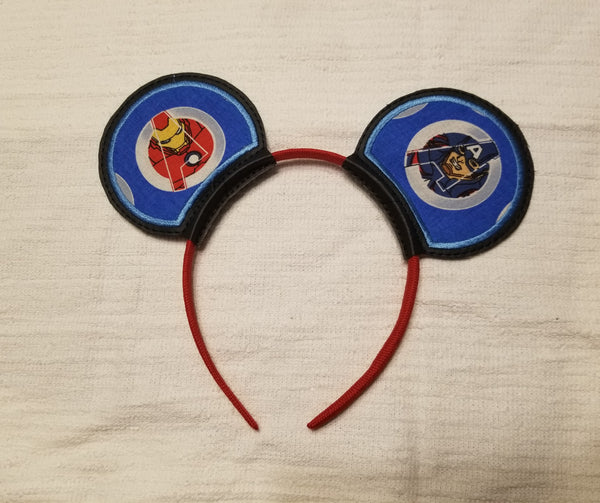 Captain America and Ironman Mouse Ears