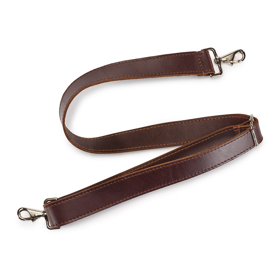 Adjustable Leather Shoulder Strap || Dark Brown Latigo Leather