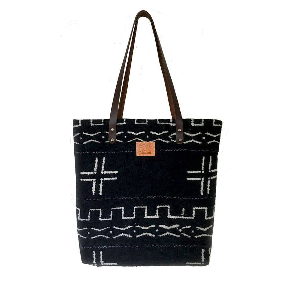 Deepest Blue Mudcloth Feed Bag