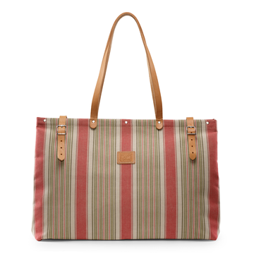 Watermelon Striped Getaway Bag