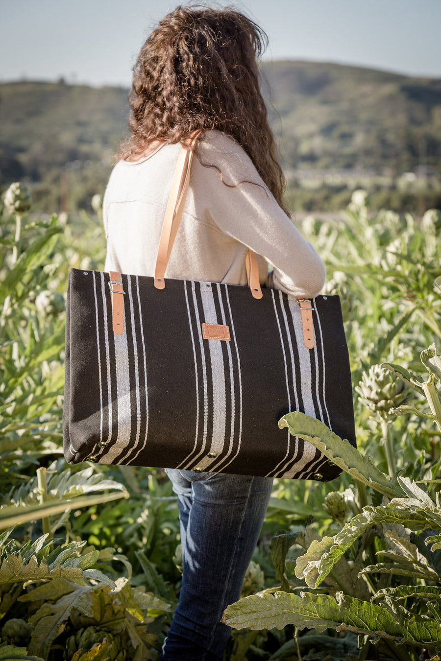 Black and White Getaway Bag