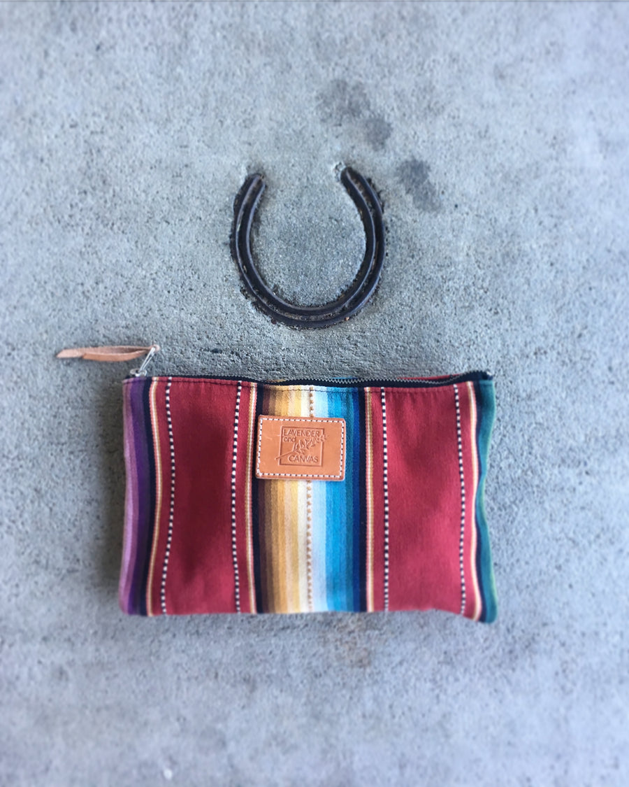 Red Sarape Pouch