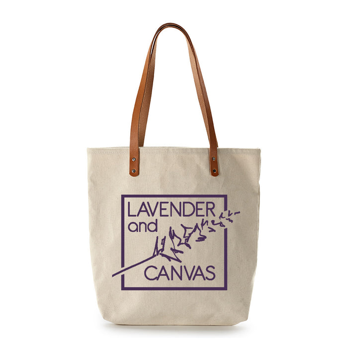 Lavender and Canvas Feed Bag