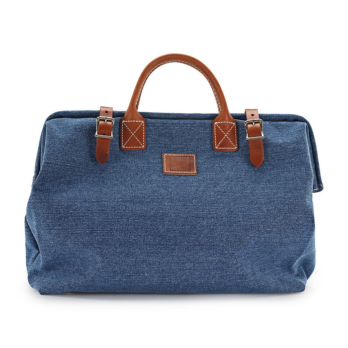 "16"" Carpenter Bag in Faded Denim"