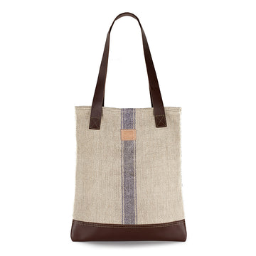 Small Vintage Grain Sack with Violet Stripe